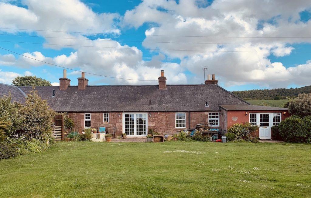 Converted farmhouse Stenton Village East Lothian Scotland.