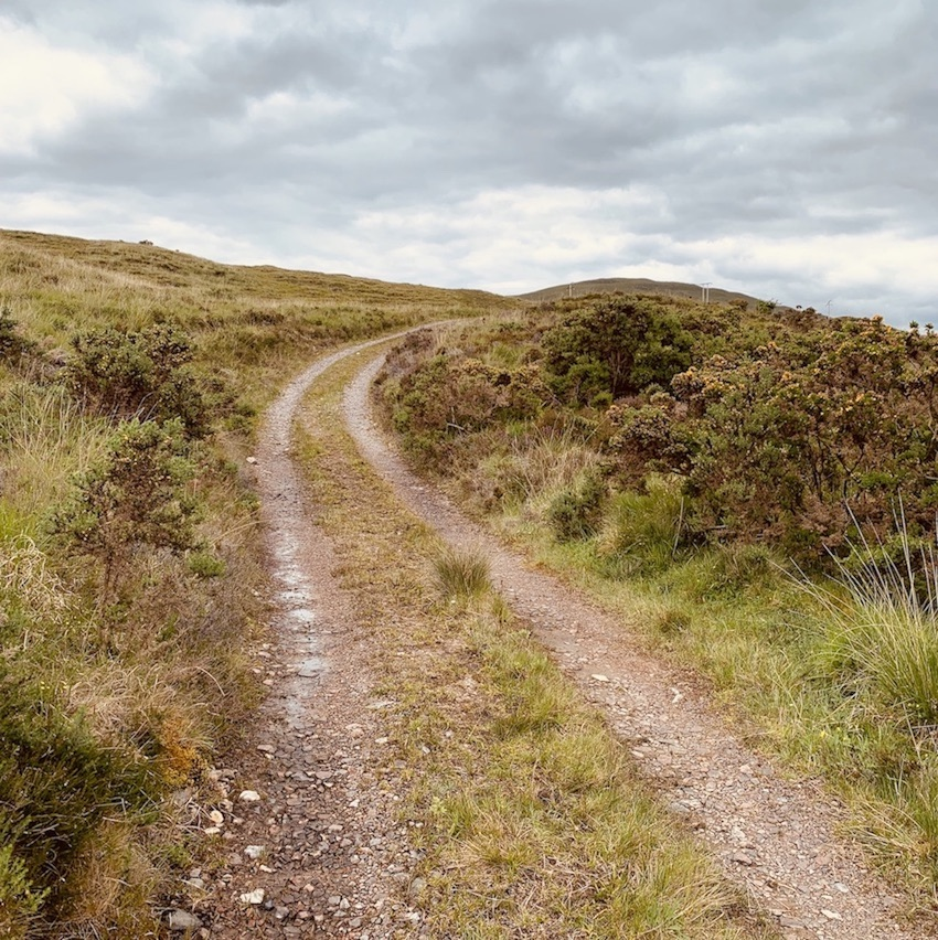 Country track Banavie Scotland.