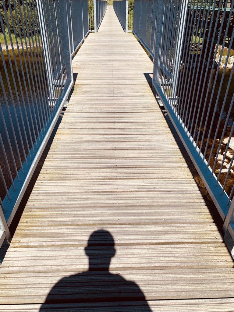 Crossing Soldiers Bridge Fort William Scotland.