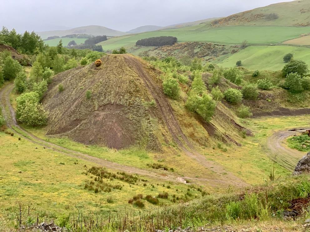 Disused quarry Meigle Circular The Scottish Borders.