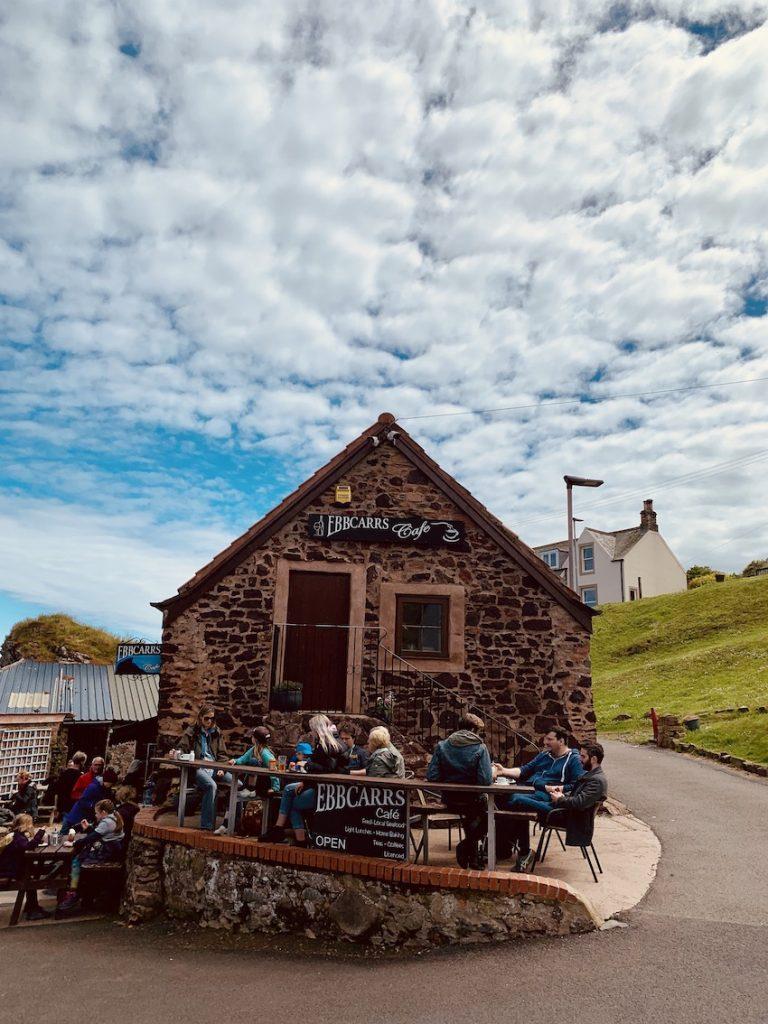 Ebbcars Cafe St Abbs Village Scotland.