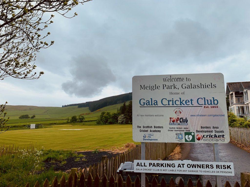 Gala Cricket Club Meigle Park Galashiels Scotland.