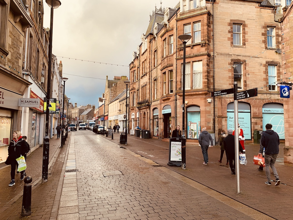 Galashiels High Street The Scottish Borders.