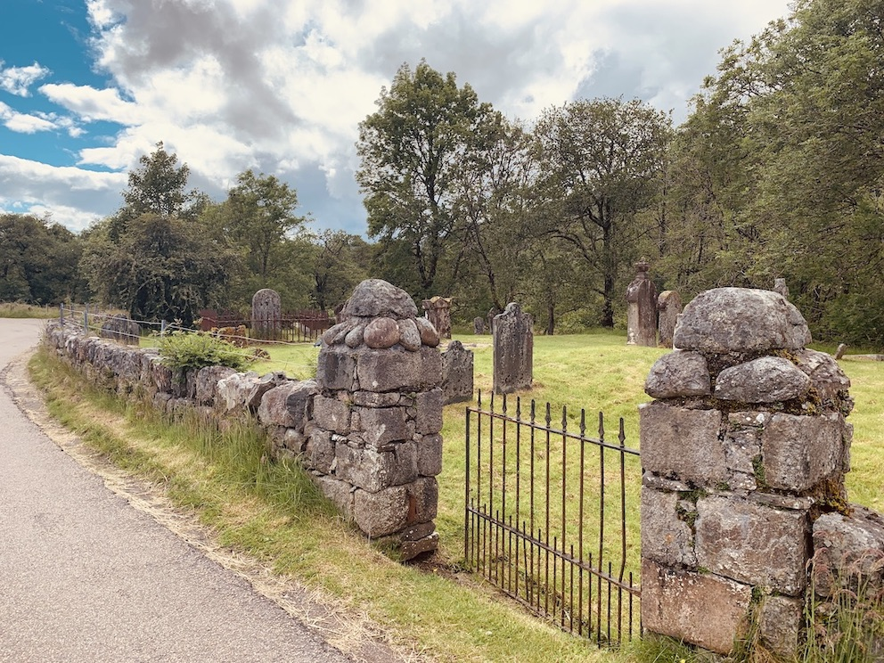 Graveyard Gairlochy Scotland.