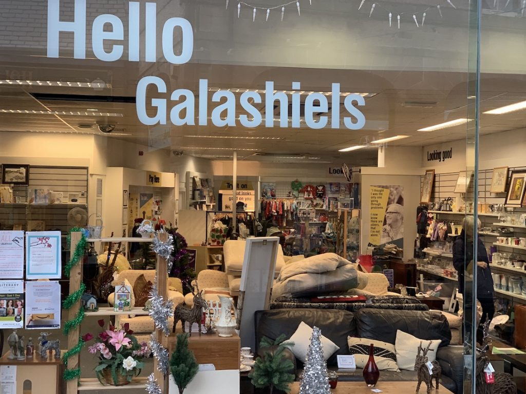Hello Galashiels Charity Shop The Scottish Borders.