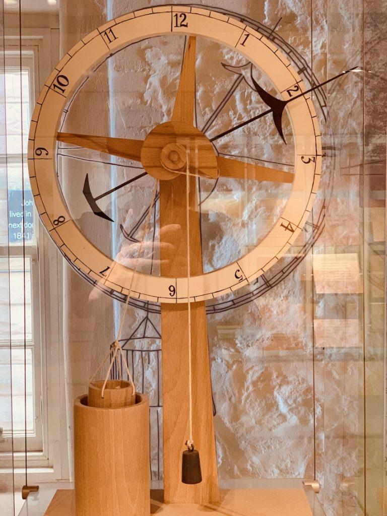 Homemade clock John Muir.