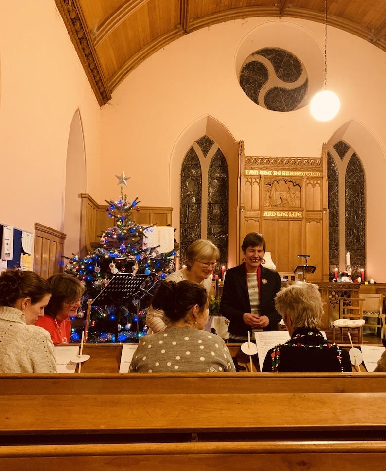 Inside Caddonfoot Parish Church Scotland.