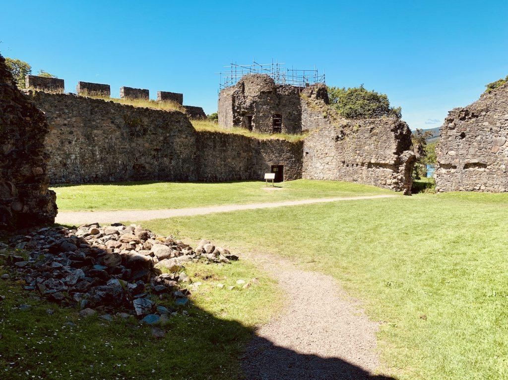 Inverlochy Castle ruins Scotland.