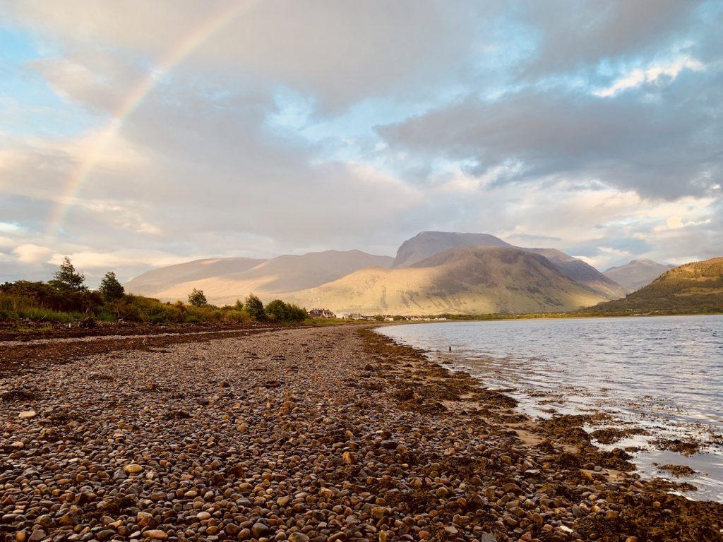 Loch Linnhe Beach Corpach Scotland.