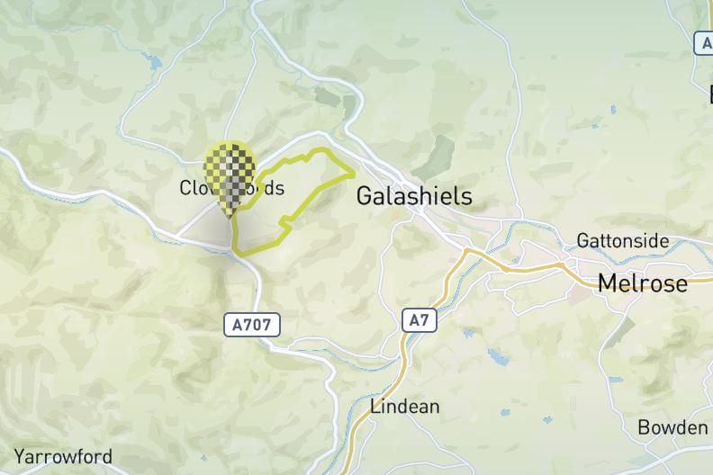 Meigle Circular Walking route Galashiels Scotland