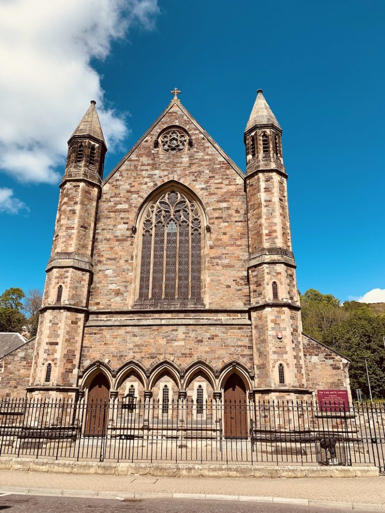 Our Lady and St. Andrew Church Galashiels Scotland.