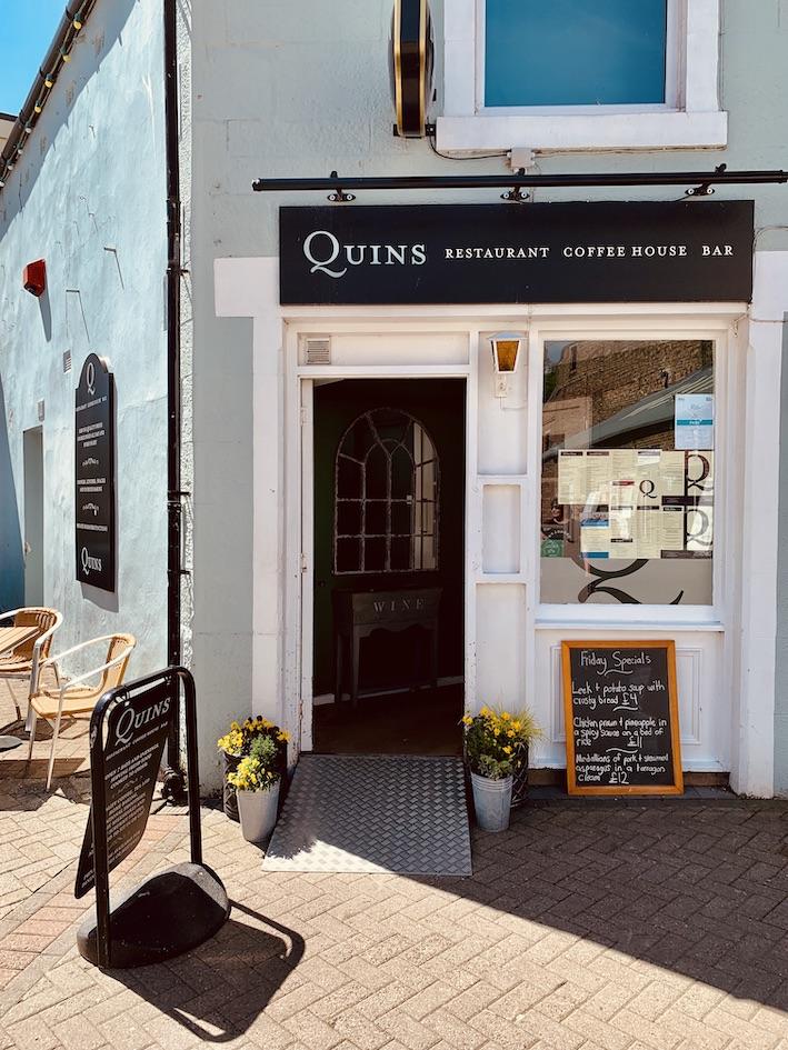 Quins Restaurant Galashiels Scotland.