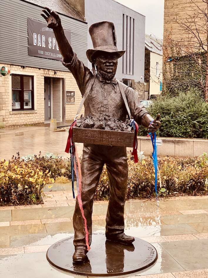 Robert Coltart Coulters Candy statue Galashiels Scotland.