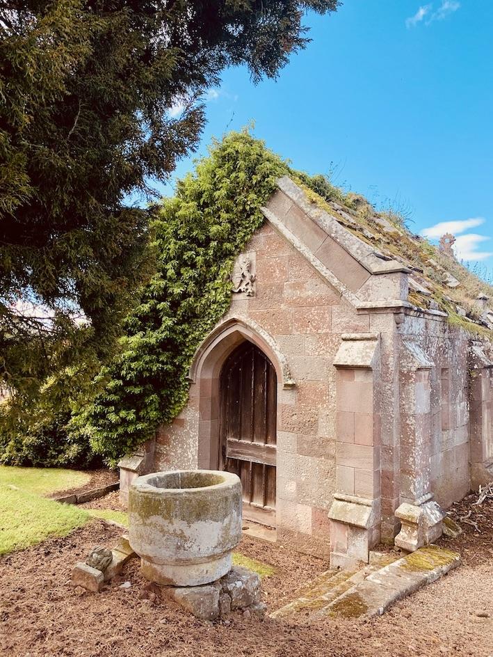 Ruins at Stenton Parish Church Scotland.