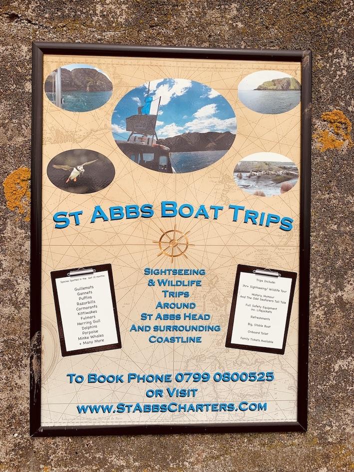 St Abbs Boat Trips Scotland.