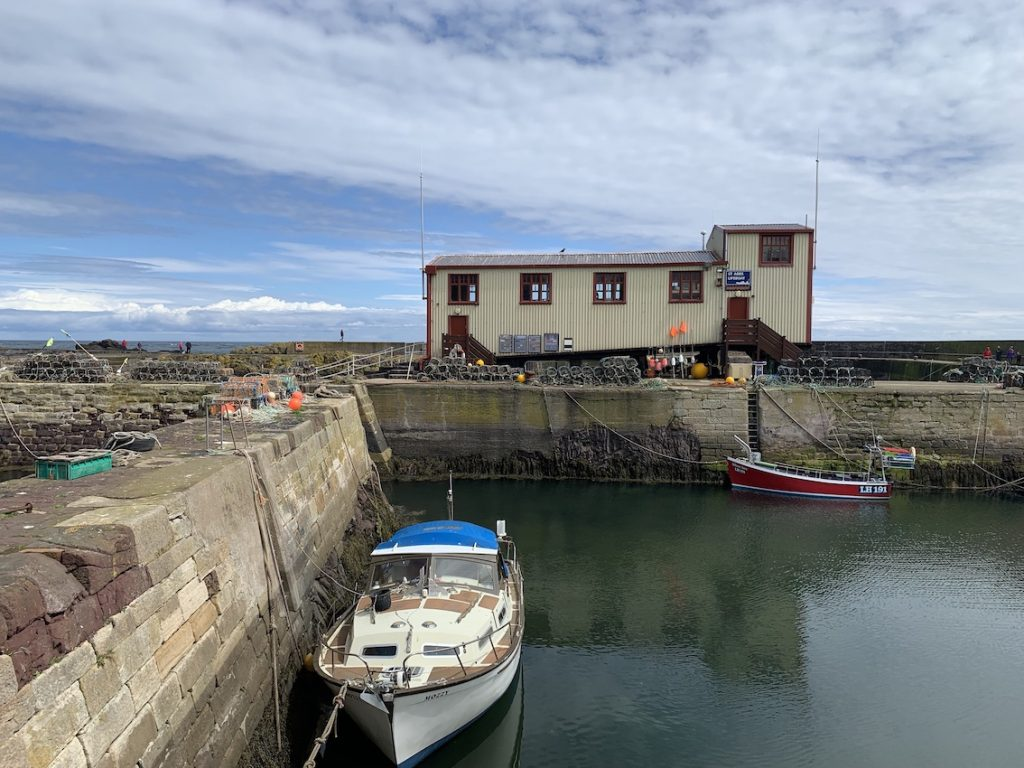 St Abbs Lifeboat Station Scotland.