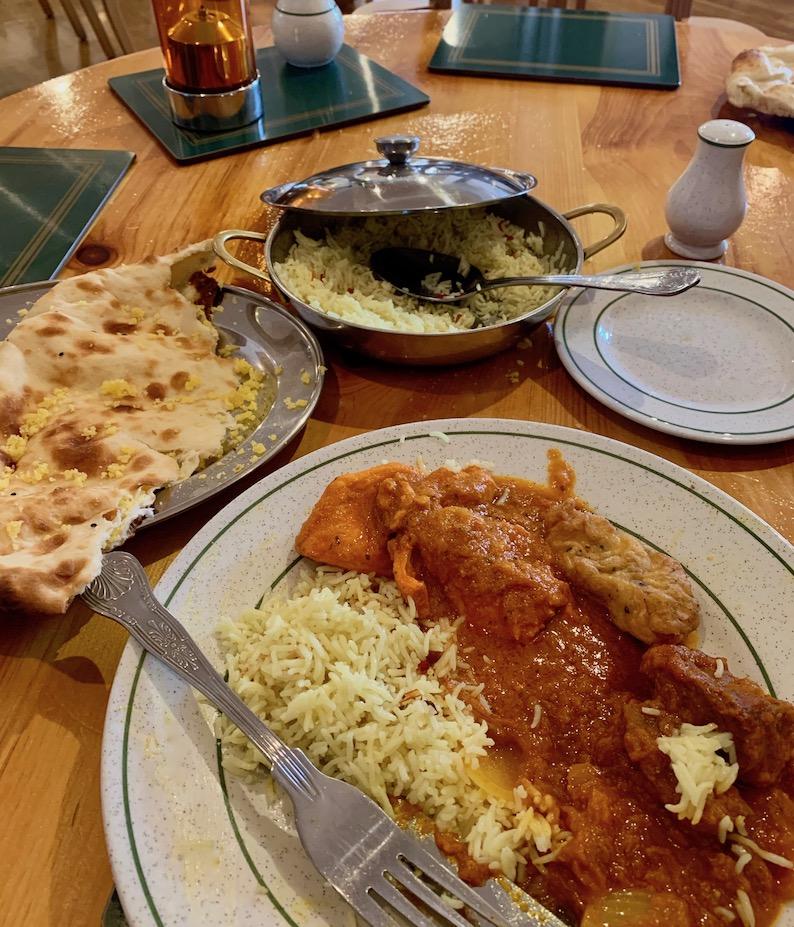 Sunday buffet lunch Eastern Eye Indian Restaurant Haddington.