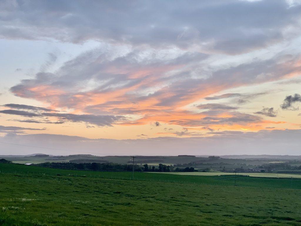 Sunset Stenton Village East Lothian Scotland.
