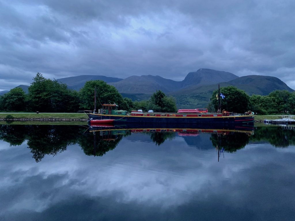 The Caledonian Canal Banavie Scotland.