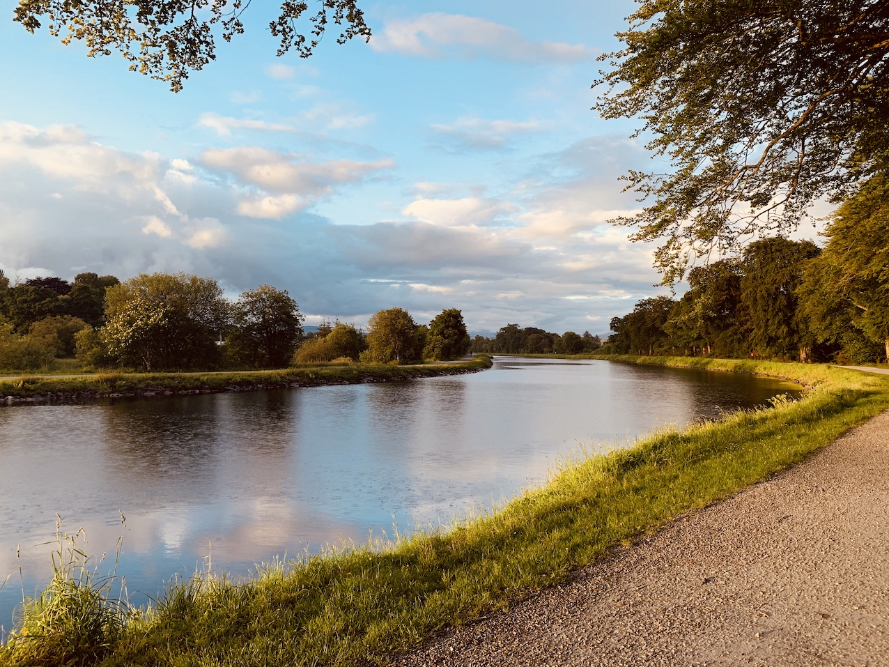 The Caledonian Canal Corpach Scotland.