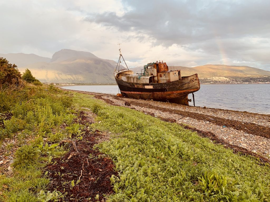 The Corpach Shipwreck Scotland.