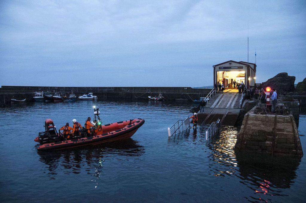 Thomas Tunnock lifeboat St Abbs Village Scotland.