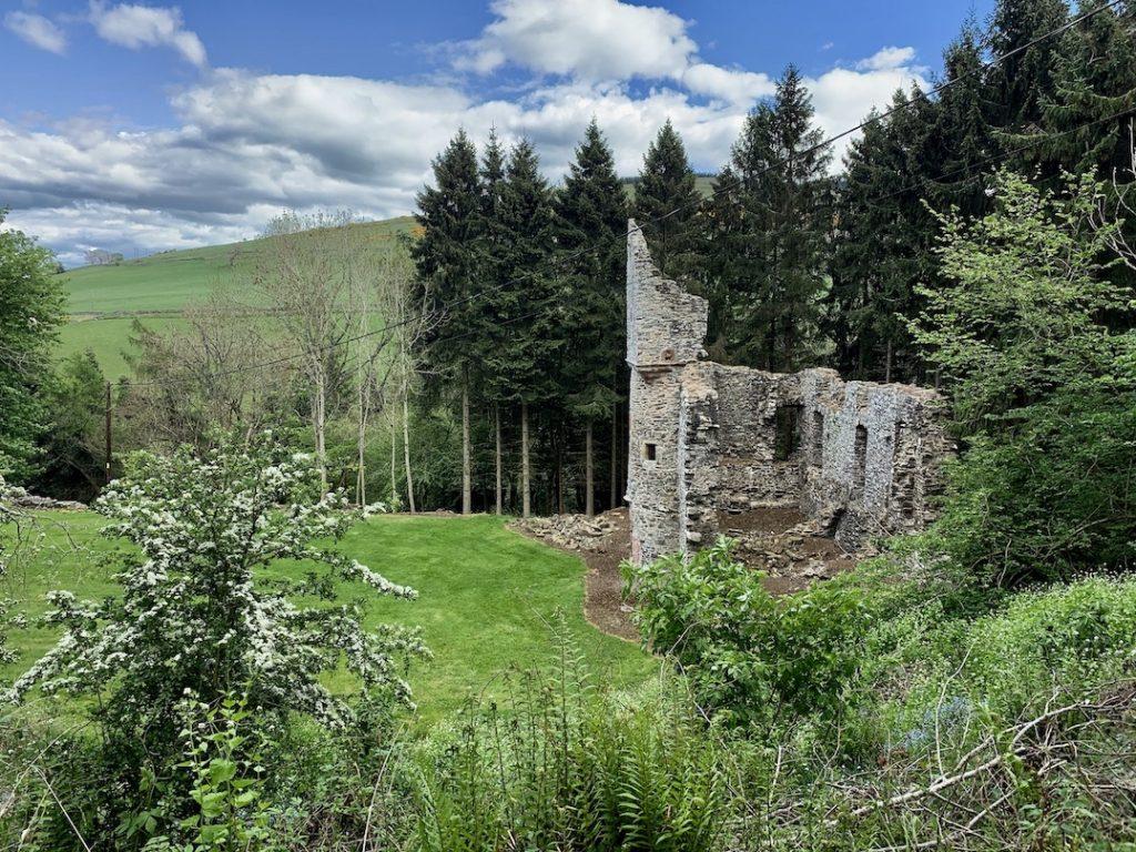 Torwoodlee Tower ruins Galashiels Scotland.