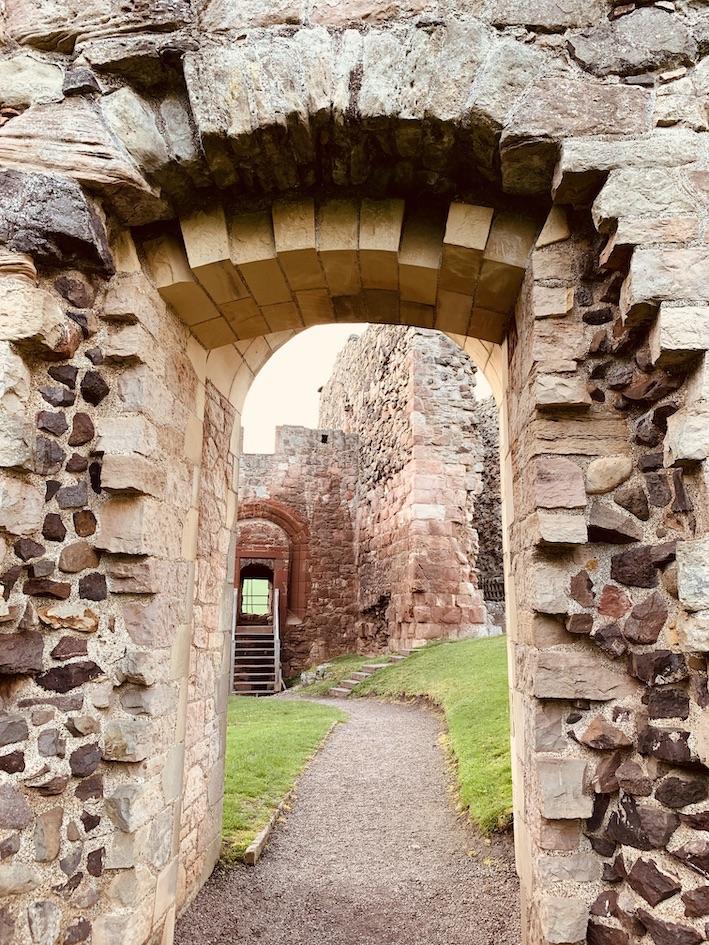 Visit Hailes Castle East Lothian Scotland.