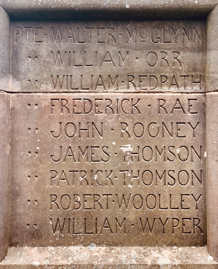 War Memorial Caddonfoot Parish Church Scotland.