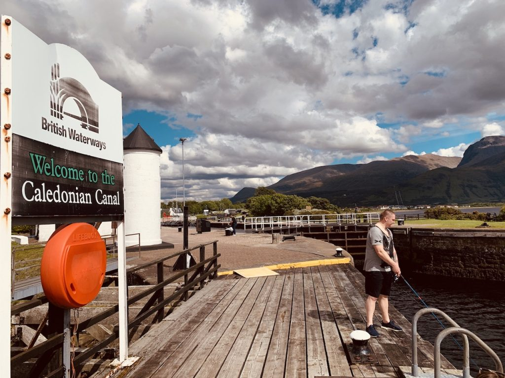 Welcome to The Caledonian Canal Corpach Scotland.