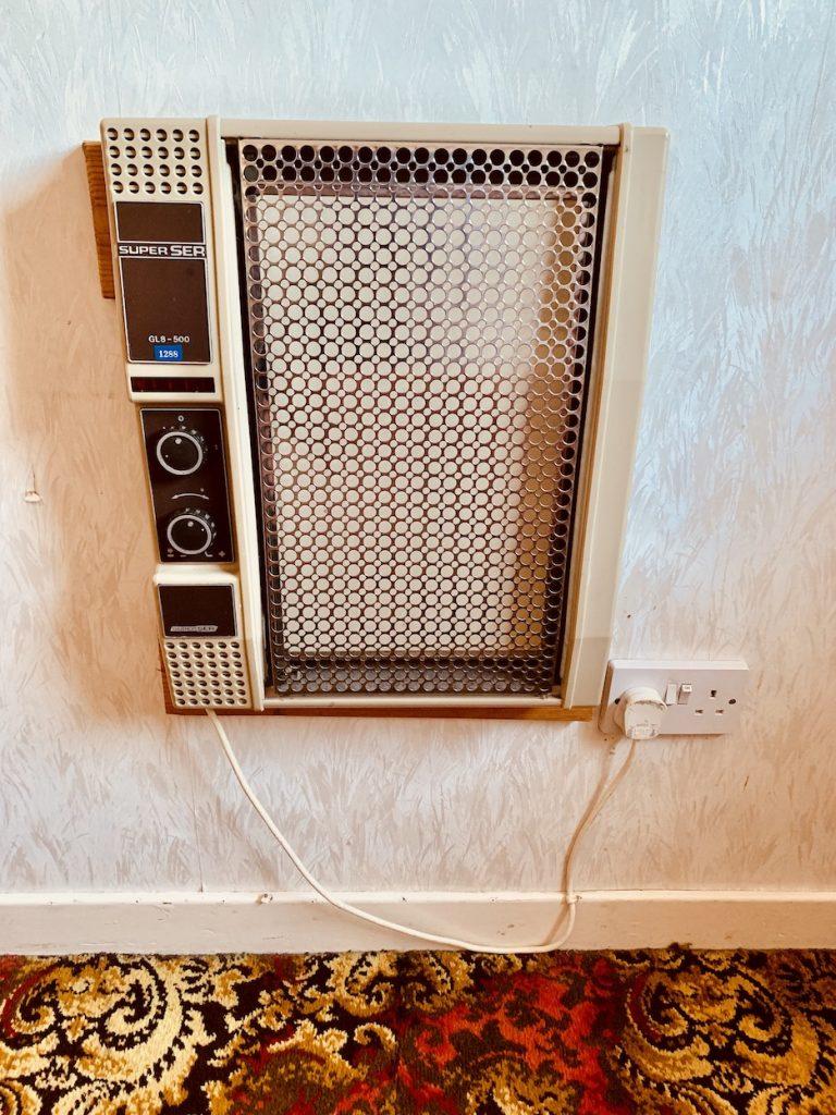 Antique heater The Lancaster Hotel Oban.