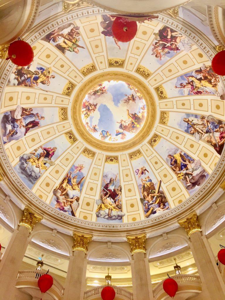 Beautiful ceiling at The Parisian Macau.