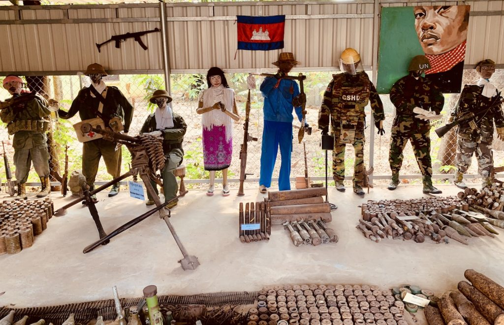 Cambodia Landmine Museum Siem Reap.