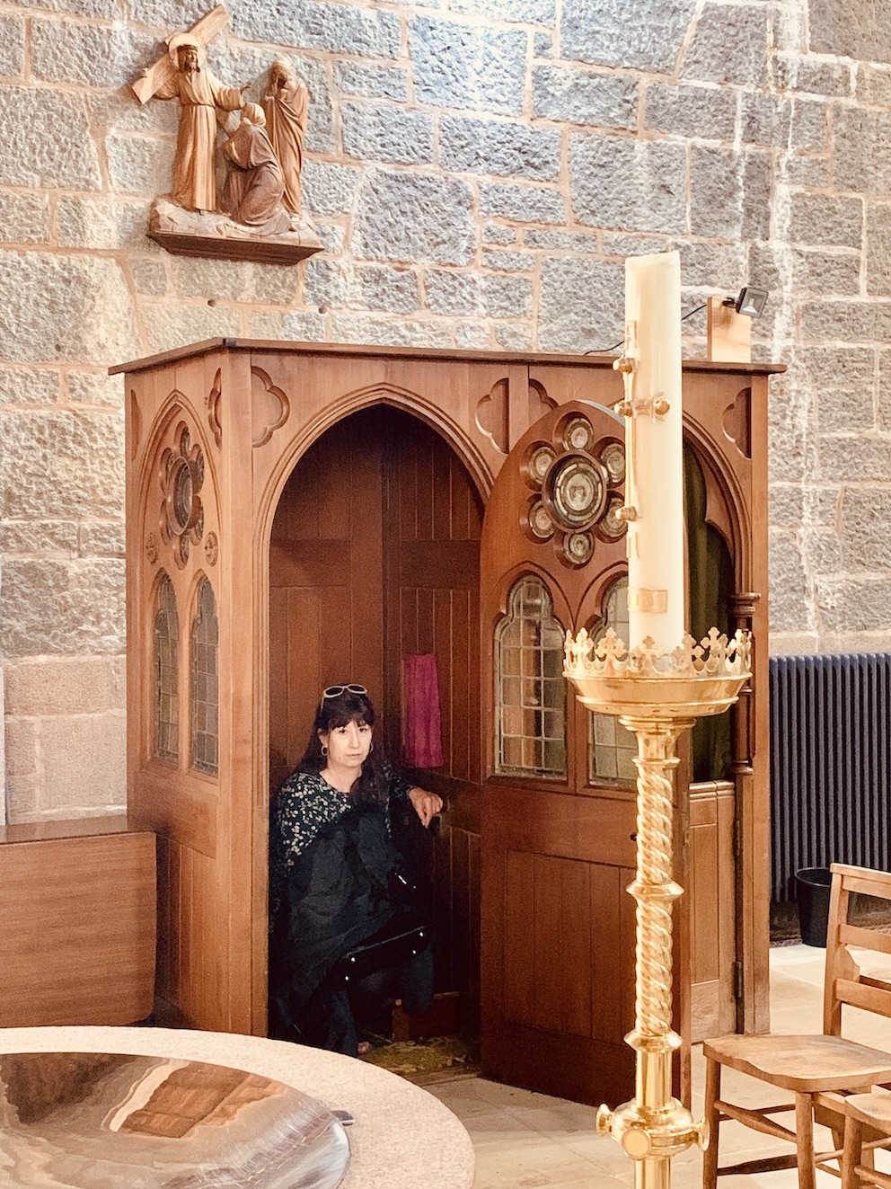Considering confession St Columba's Cathedral Oban.