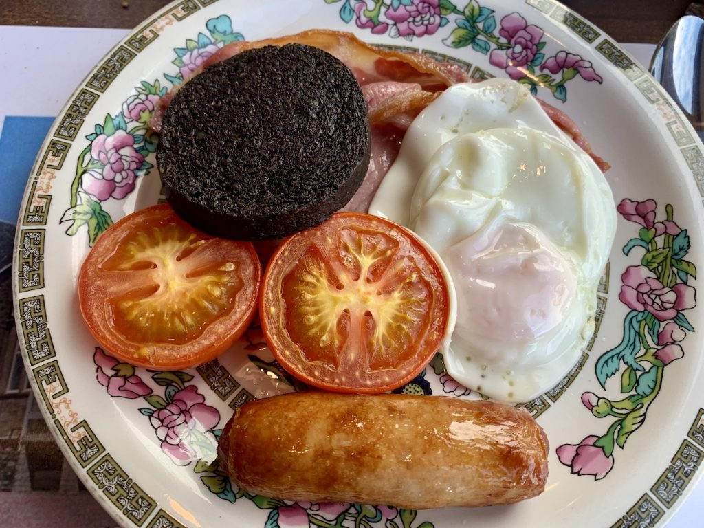 Fried breakfast at The Lancaster Hotel Oban.