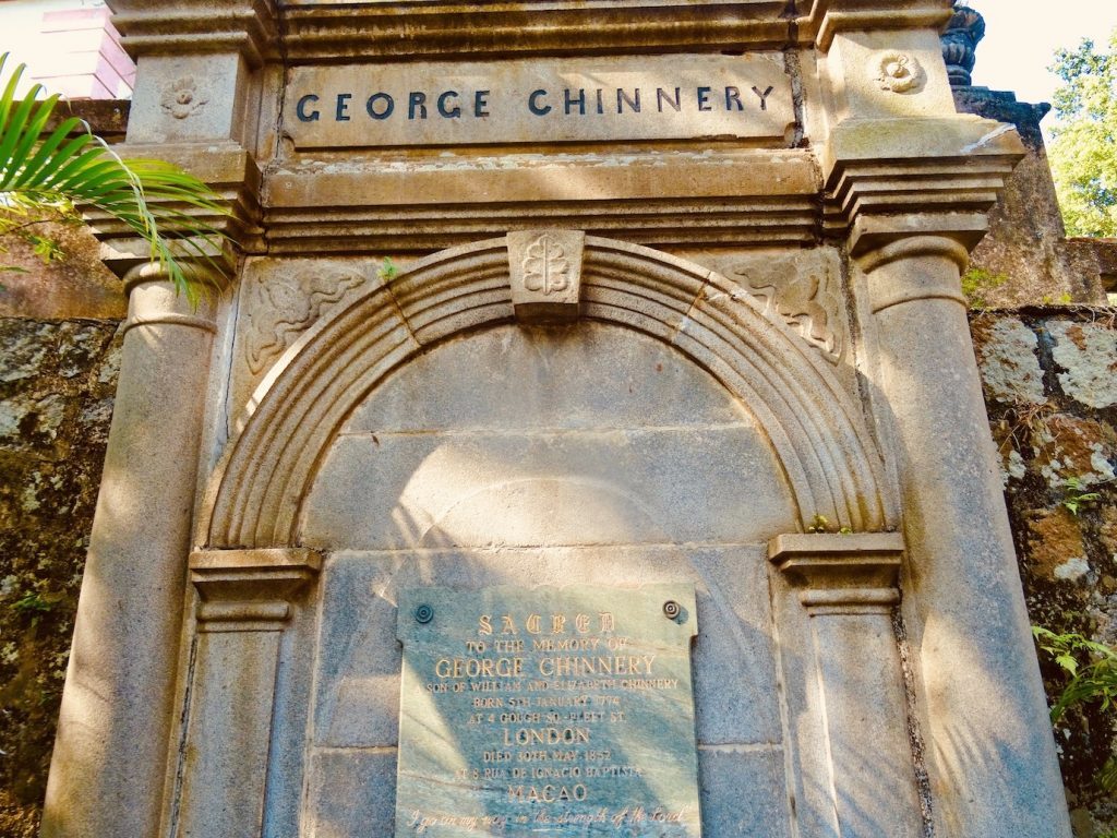 George Chinnery gravestone Macau Protestant Chapel and Cemetery.