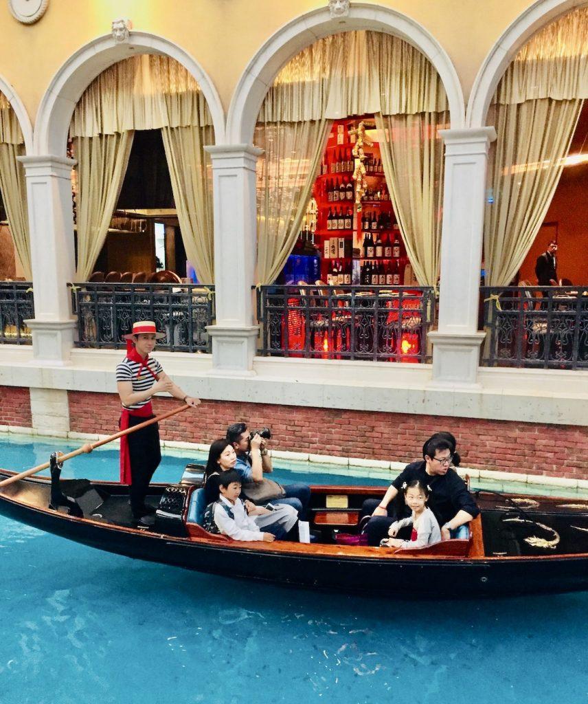 Gondola cruise The Venetian Hotel Macau.