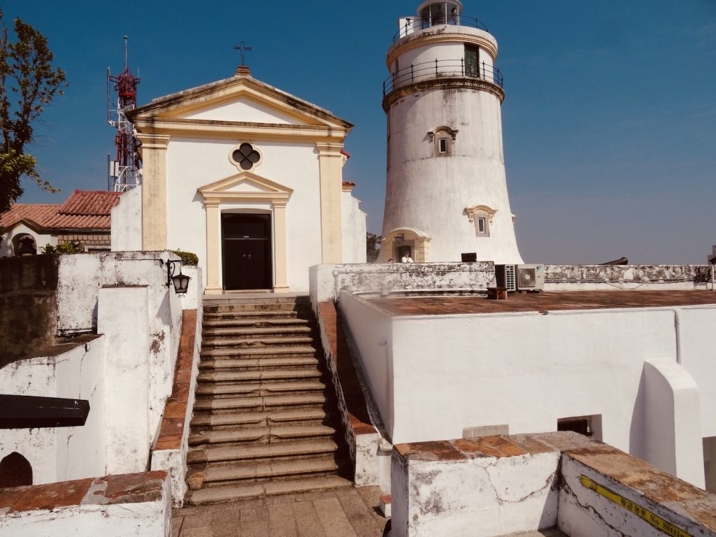 Guia Hill Fortress Lighthouse and Chapel Macau.