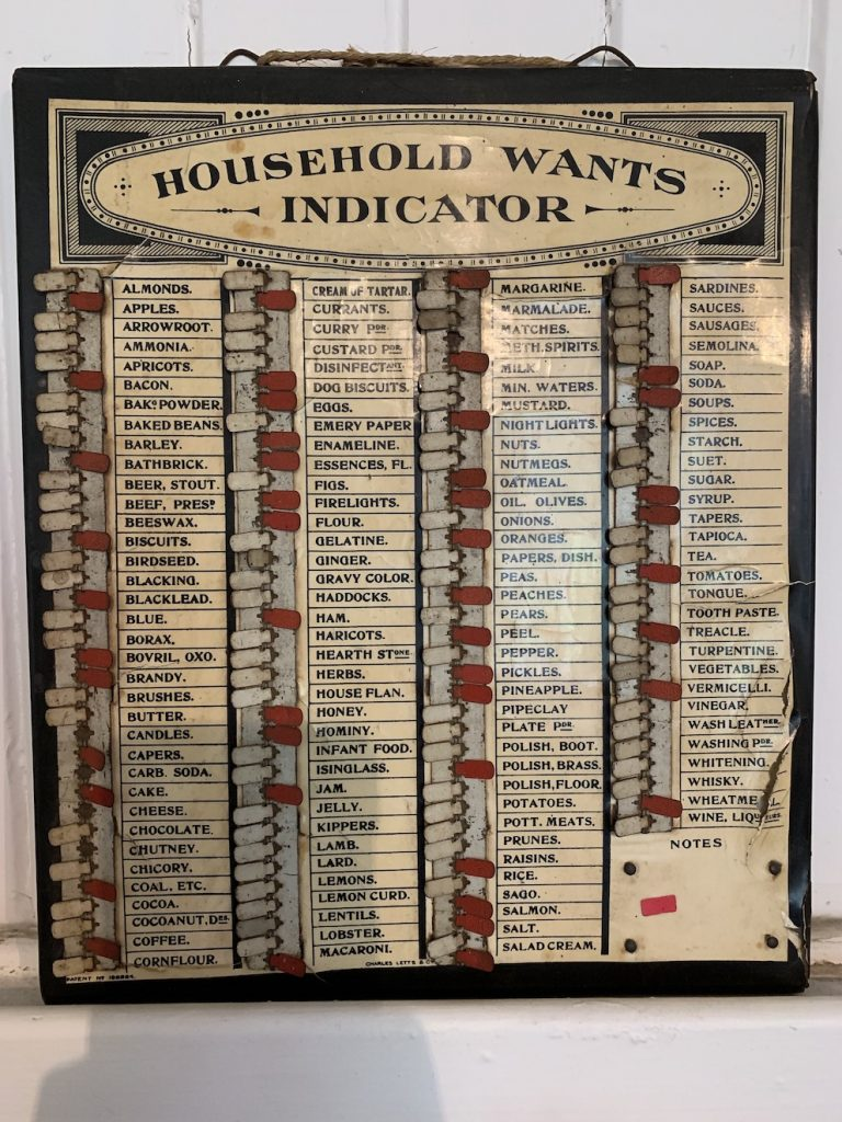 Household Wants Indicator Dunollie House Oban.