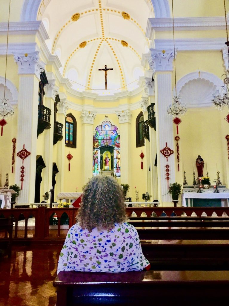 Inside Saint Lawrence's Church Macau.