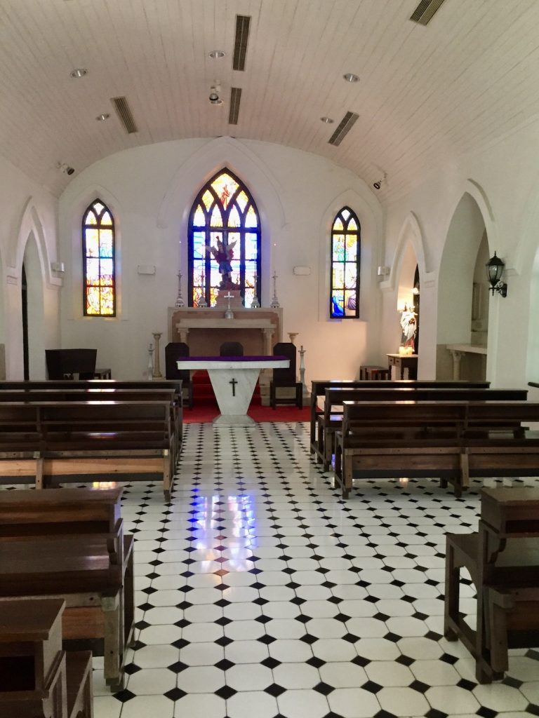Inside Saint Michael's Chapel & Cemetery Macau