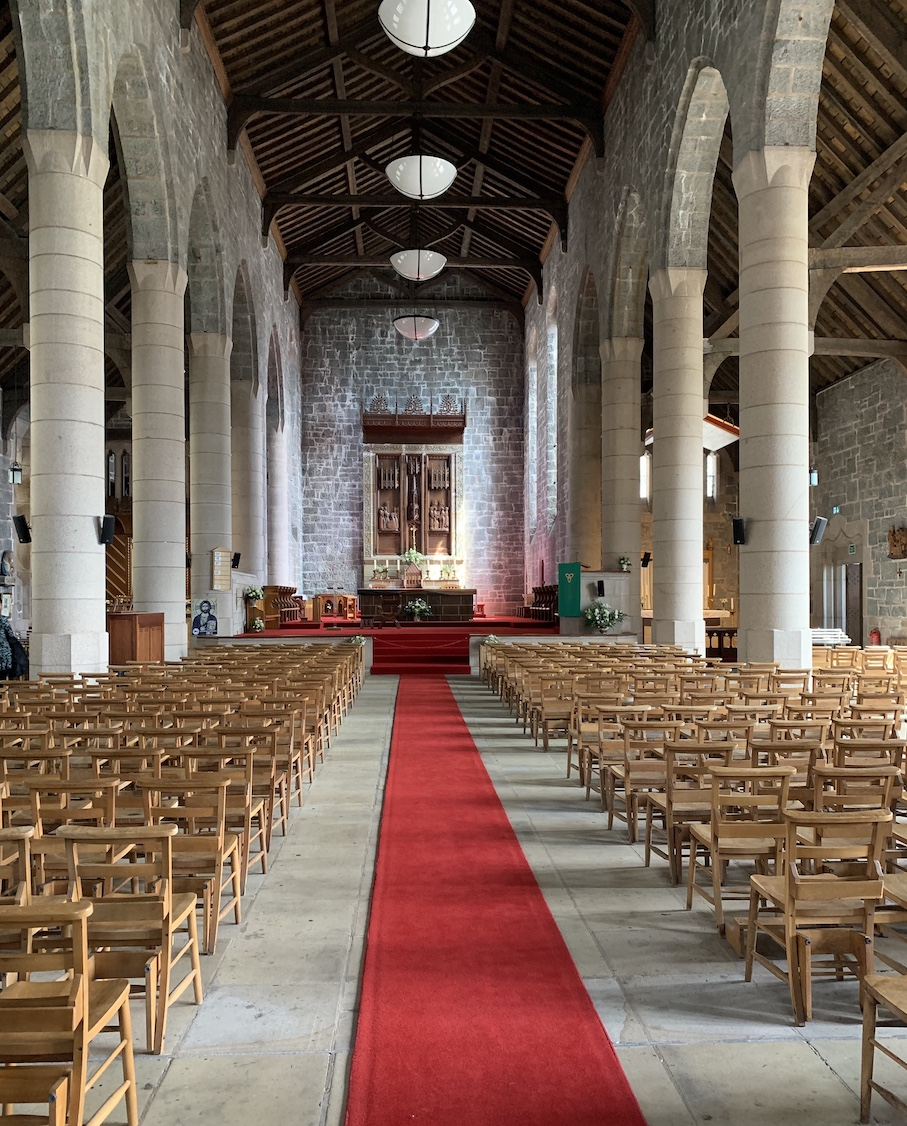 Inside St Columba's Cathedral Oban.