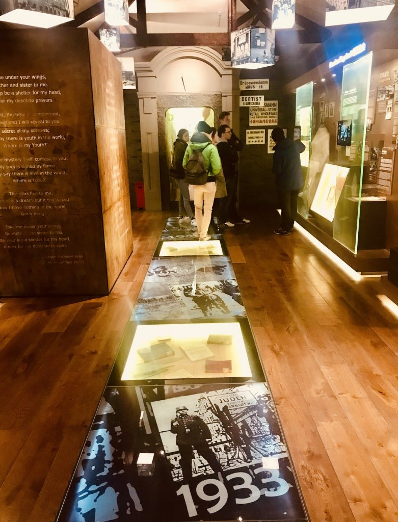 Inside The Jewish Refugees Museum in Shanghai.