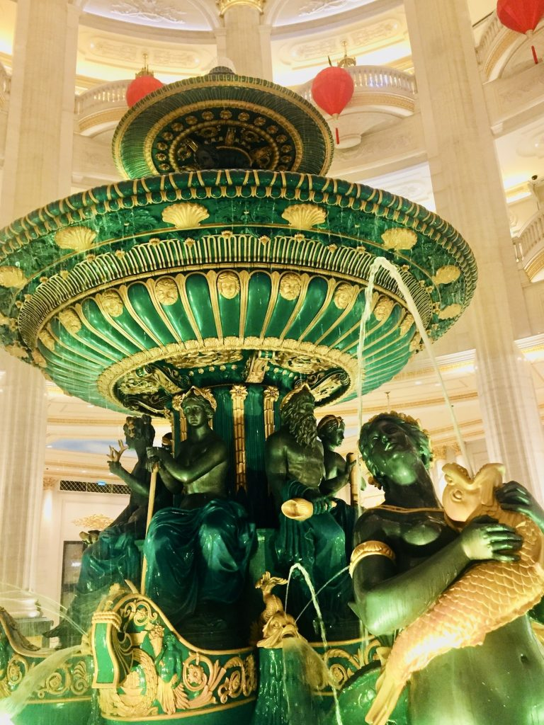 Inside The Parisian Hotel and Casino Macau.