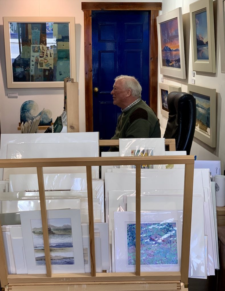 Inside the Jetty Gallery Oban.