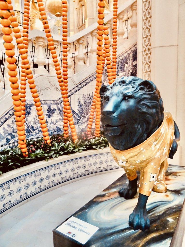 Lion statue MGM Hotel & Casino Macau