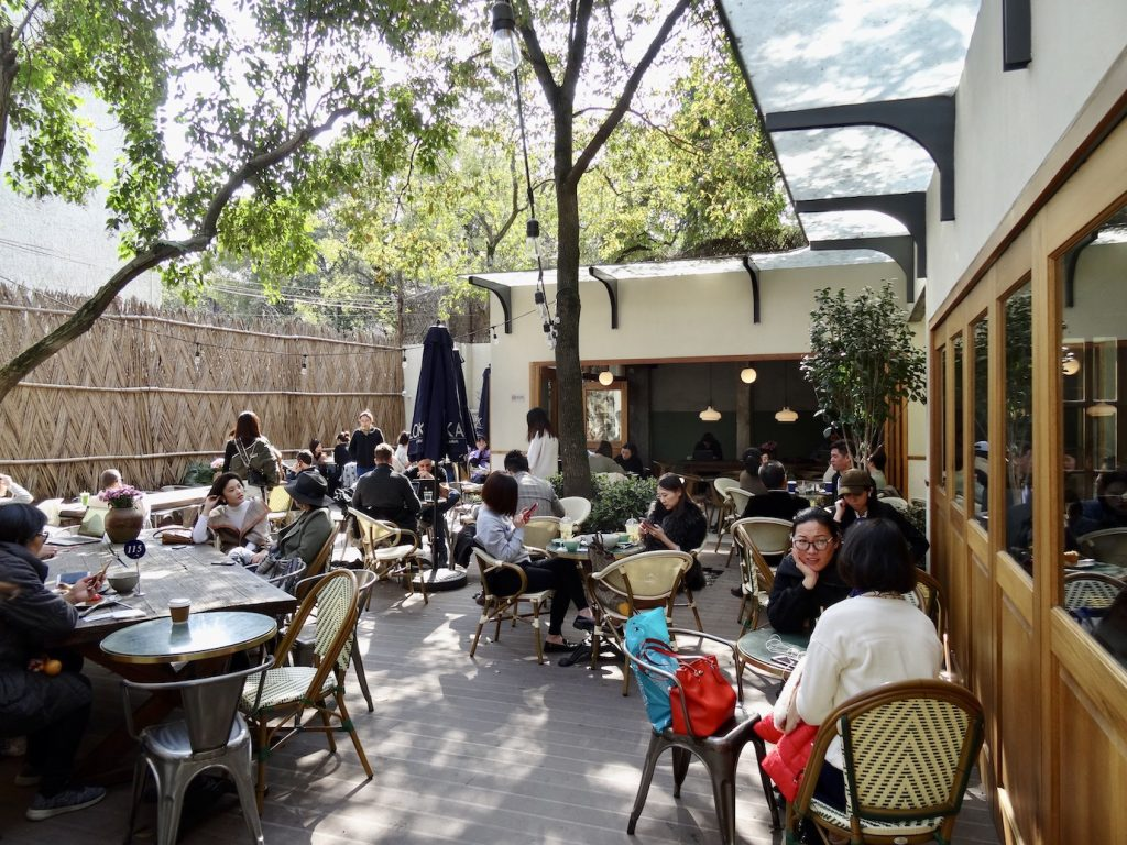 Lokal Bakery Garden French Concession Shanghai.