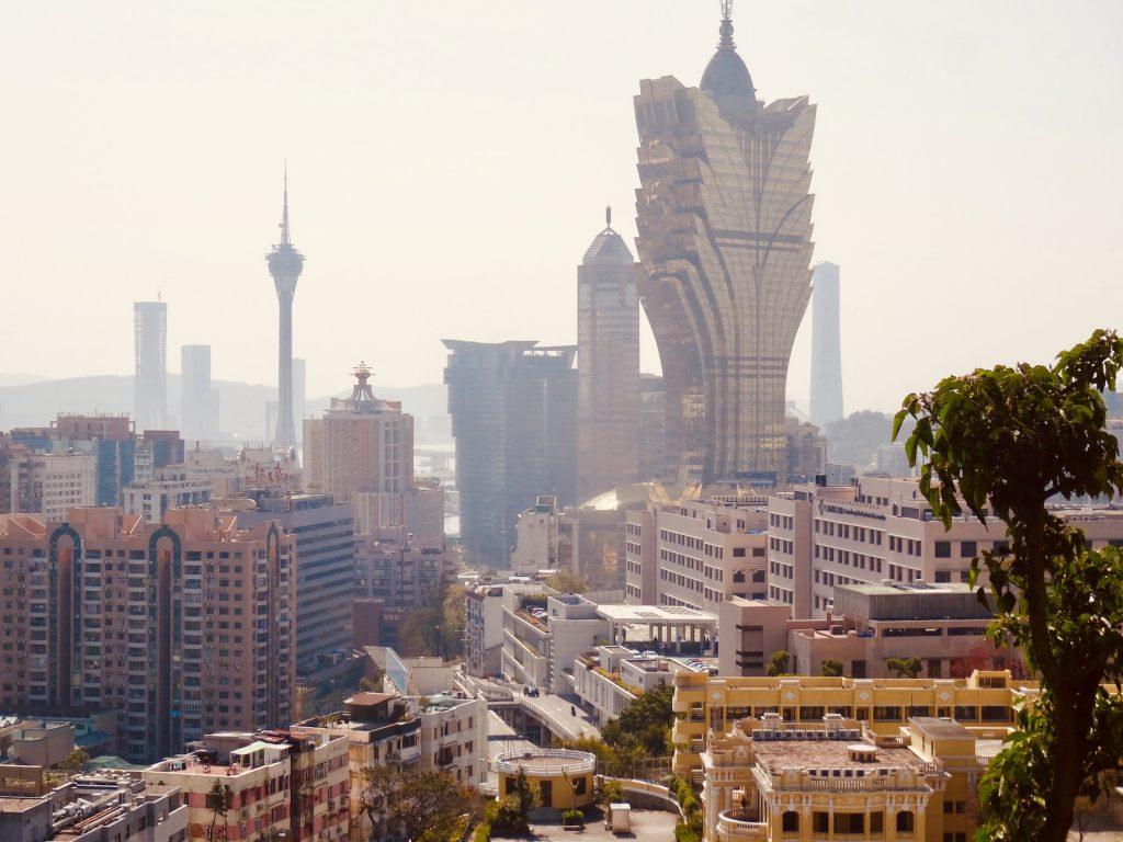 Macau skyline from Guia Hill Fortress.