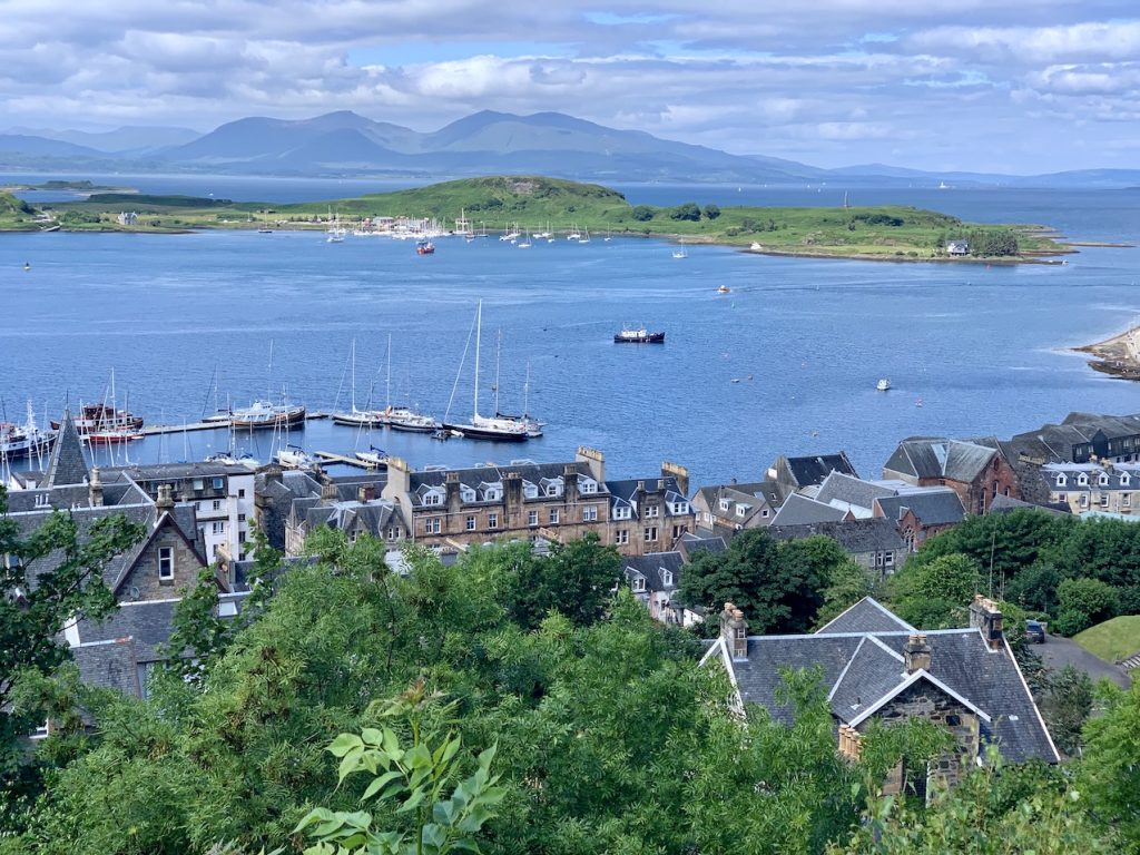 Oban Bay from McCaig's Tower Scotland.