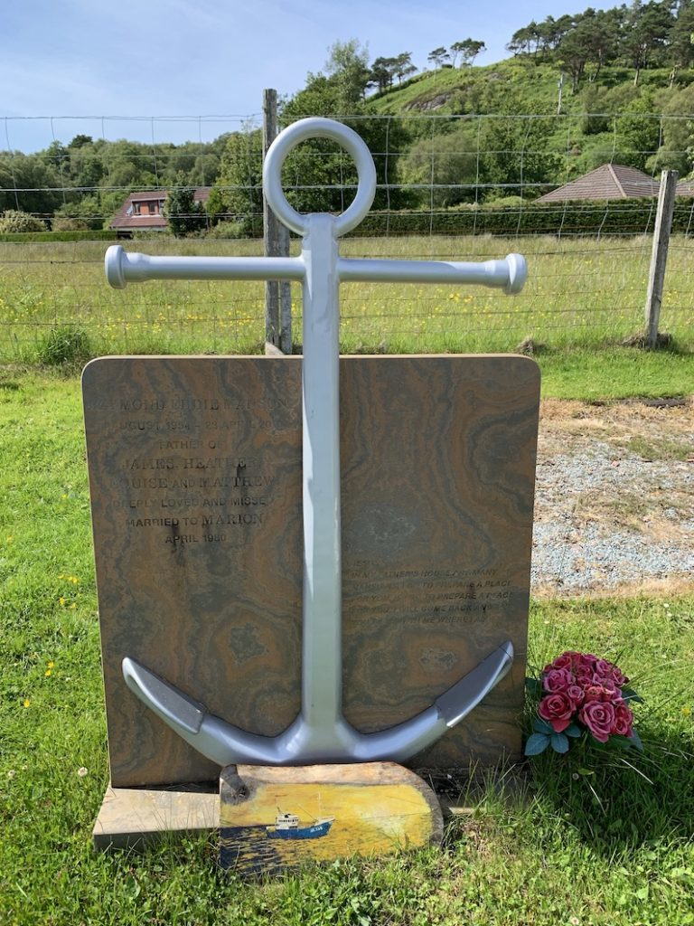 Sea anchor gravestone Beoraid Cemetery Morar